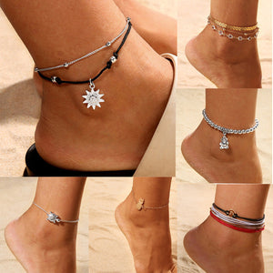 Chain Set Anklet Jewelry Beach - Intrepid Soul