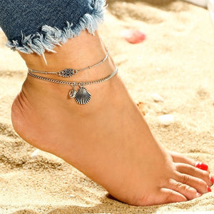 Women's Shell Beach Foot Chain - Intrepid Soul