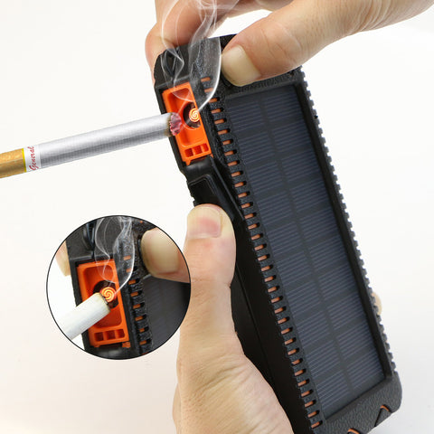 Solar Power Bank 15000mAh Phone External Battery Solar Charger Solar Powerbank with Electronic Cigarette Lighter Power Bank - Intrepid Soul