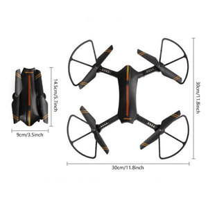 Virhuck WiFi FPV Foldable Selfie RC Quadcopter With 720P Camera Wide Angle Lens Speed Change Mode G-Sensor Trajectory Drone Toys