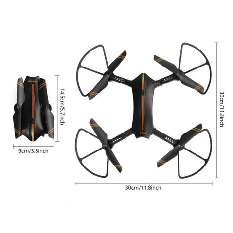 Virhuck WiFi FPV Foldable Selfie RC Quadcopter With 720P Camera Wide Angle Lens Speed Change Mode G-Sensor Trajectory Drone Toys - Intrepid Soul