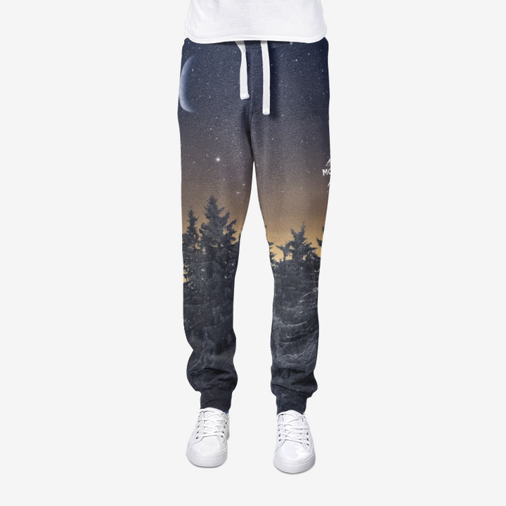Mountain Night All-Over Print men's joggers sweatpants