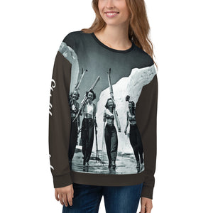 Ski Like a Girl Unisex Sweatshirt--All over print Mountain High