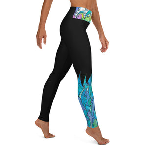 Dolphin Waves Yoga Leggings
