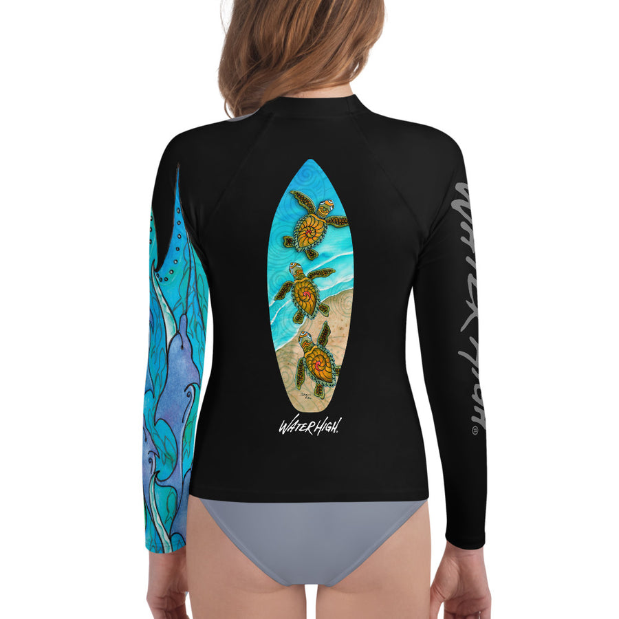 I Heart Water Youth Rash Guard