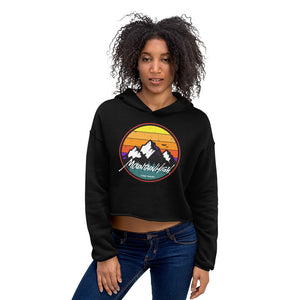 Mountain High Ladies Crop Hoodie New