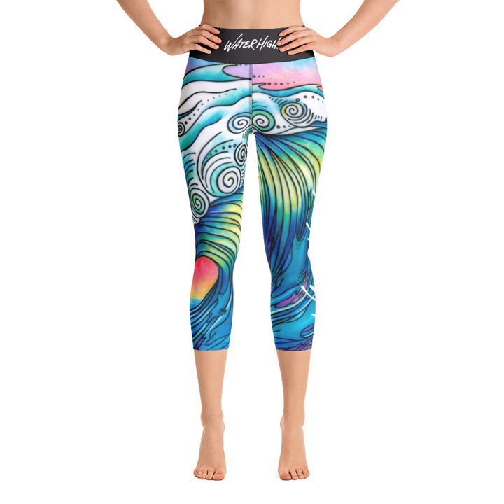 Big Wave Yoga Capri Leggings Signature Ladies
