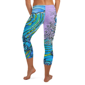Ocean Life Capri Leggings Signature