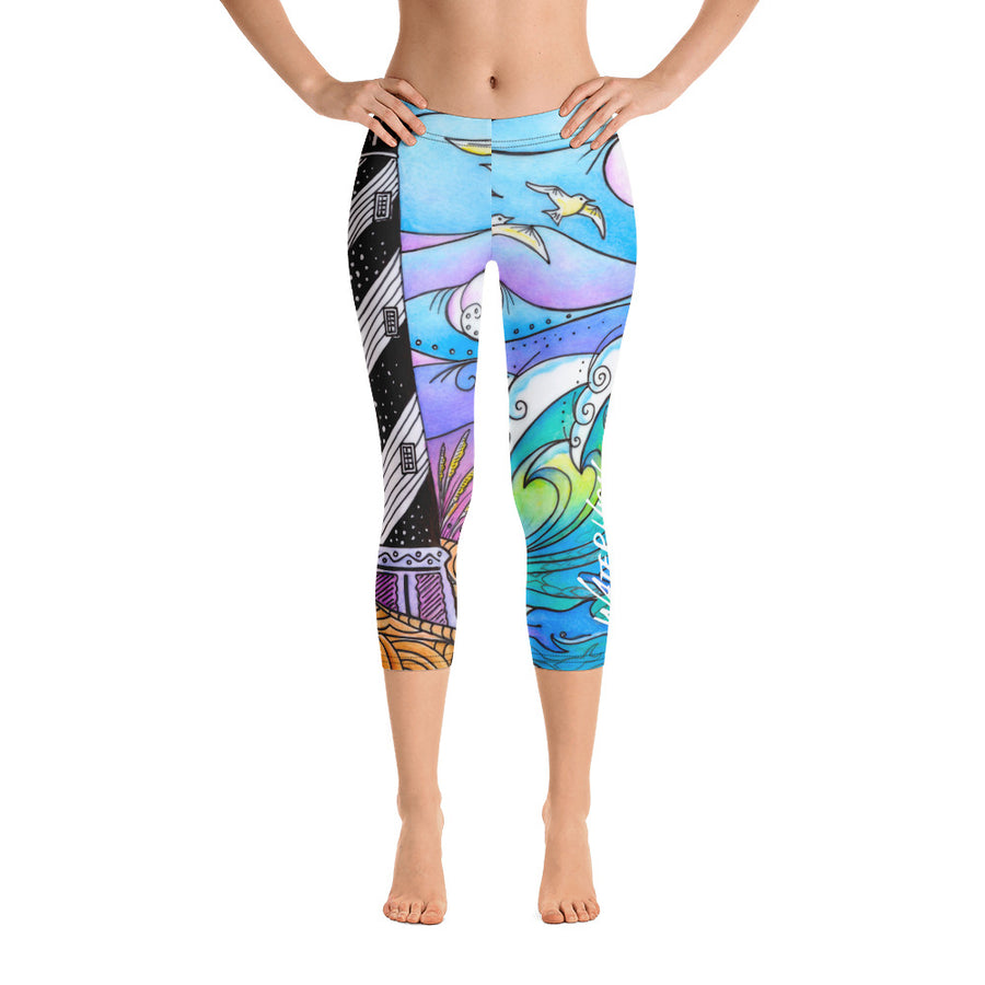 Hatteras Waves Capri Leggings Signature