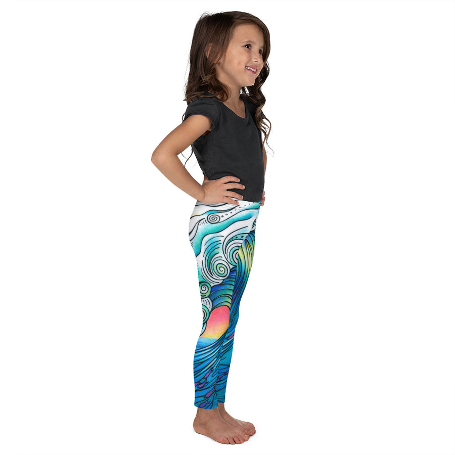 Big Wave Signature Kid's Leggings