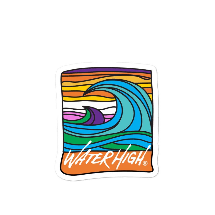 WaterHigh Wave Window Decal...Bubble-free