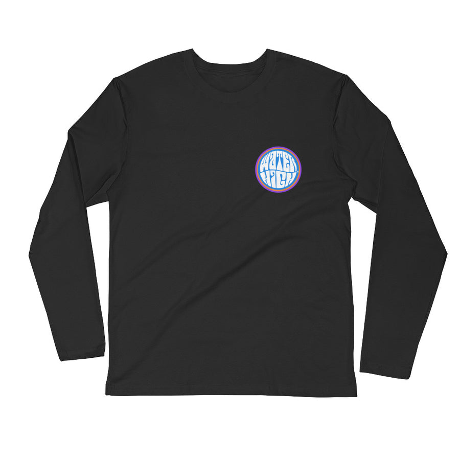 Sperm Whale Moon Long Sleeve Fitted Crew Unisex