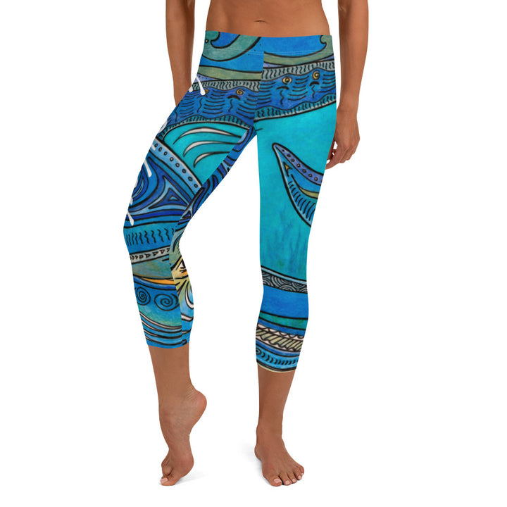 Dolphin Capri Leggings Signature Ladies