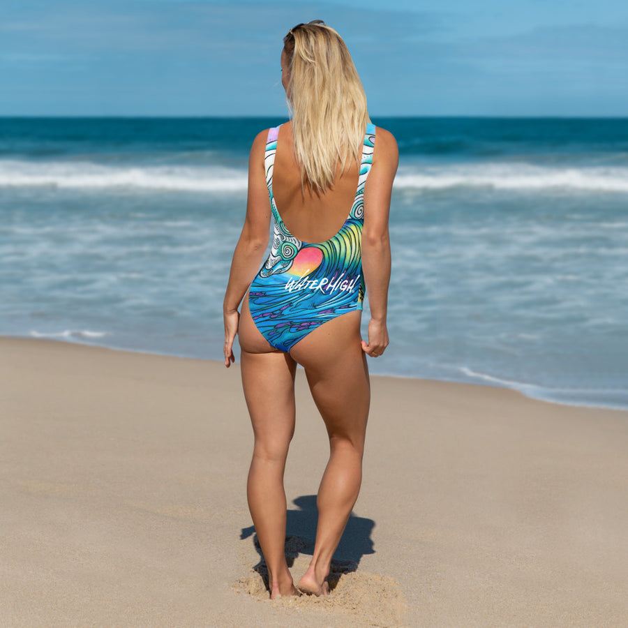 Big Wave One-Piece Swimsuit: Signature Ladies