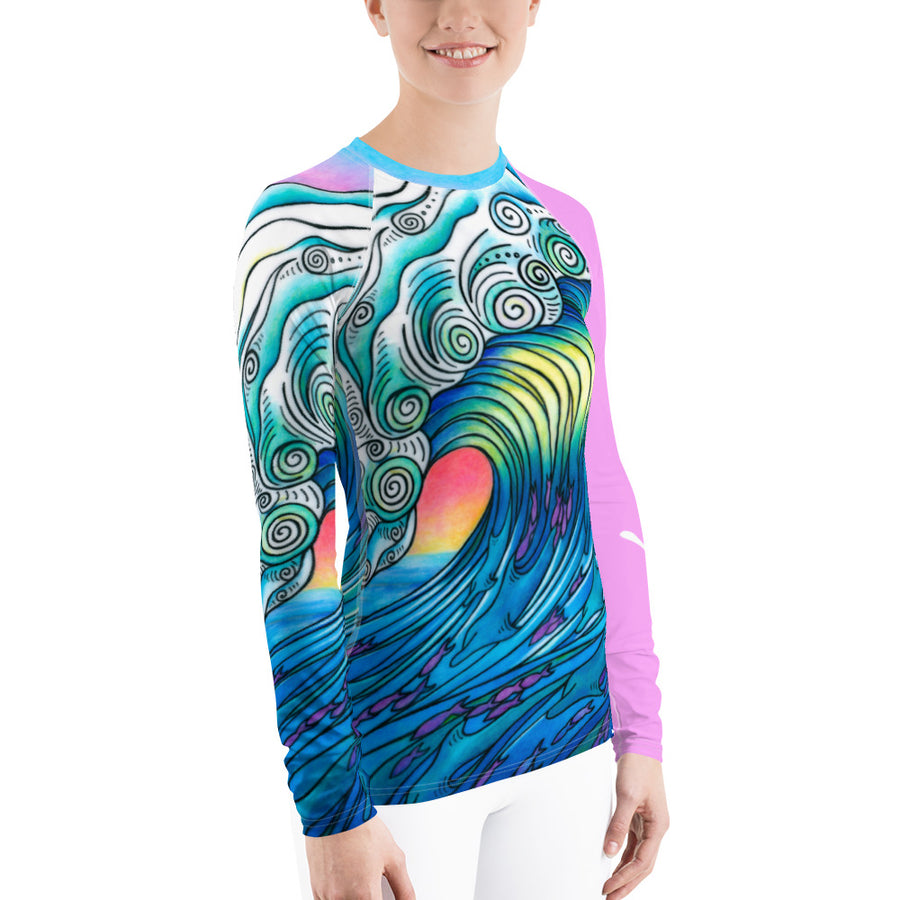 Big Wave Signature Ladies Rash Guard