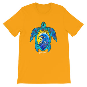 Blue Wave Turtle Short-Sleeve Unisex T-Shirt Signature