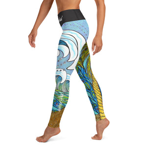 Wave Palm Full Yoga Leggings Signature