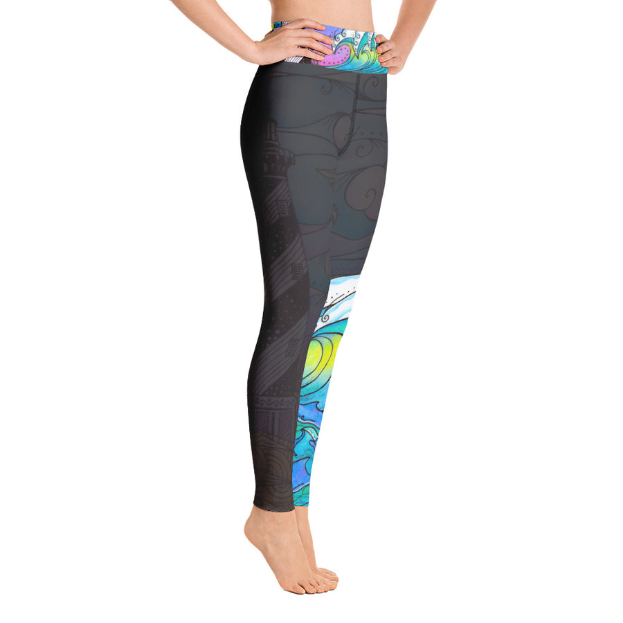 Hatteras Waves Yoga Leggings Signature