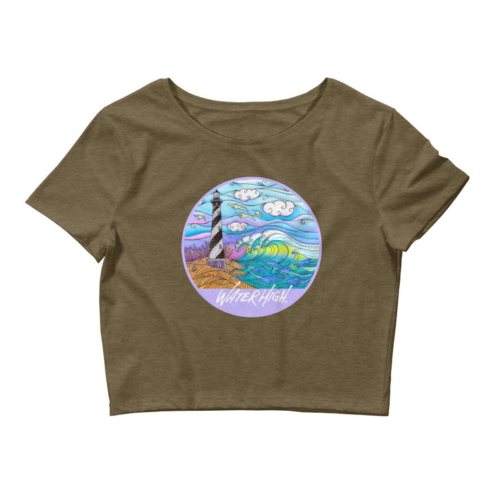 Hatteras Waves Ladies Crop Tee Signature