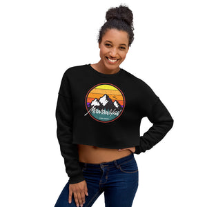Mountain High Ladies Crop Sweatshirt