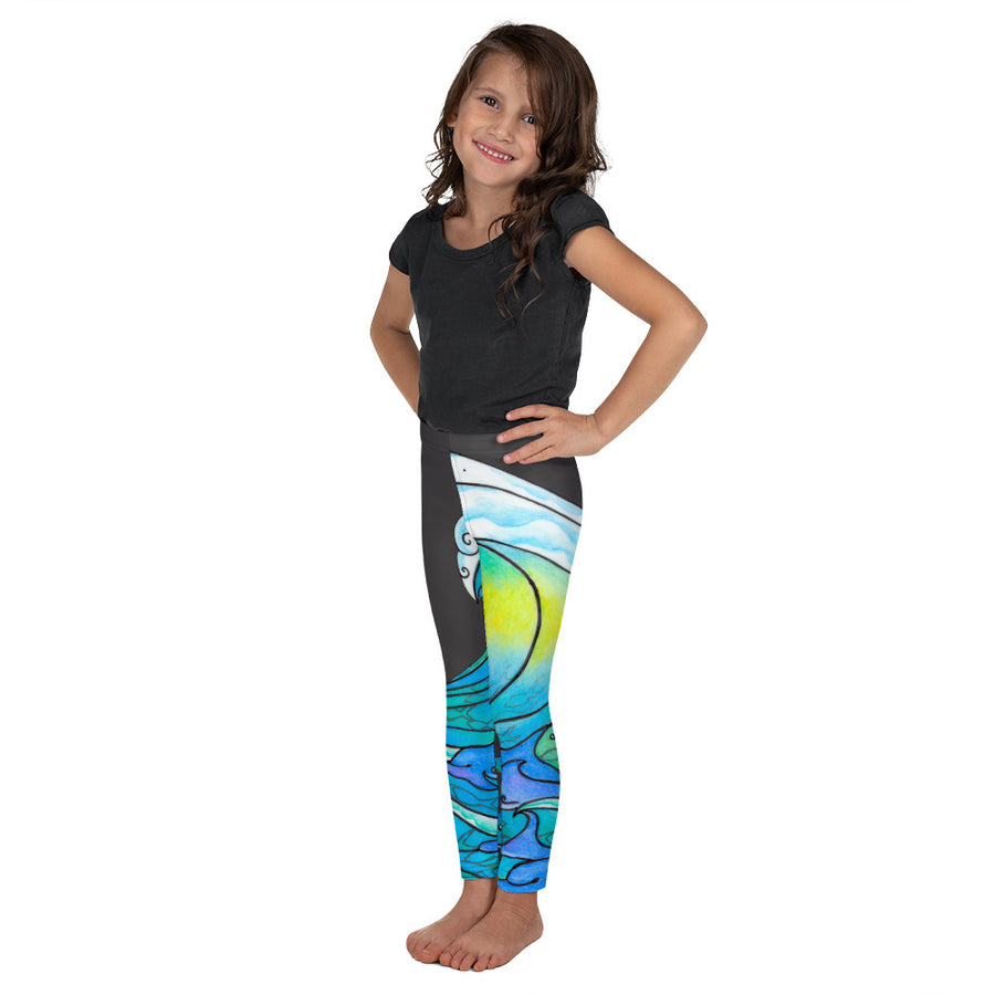 Dolphin Wave Signature Kid's Leggings