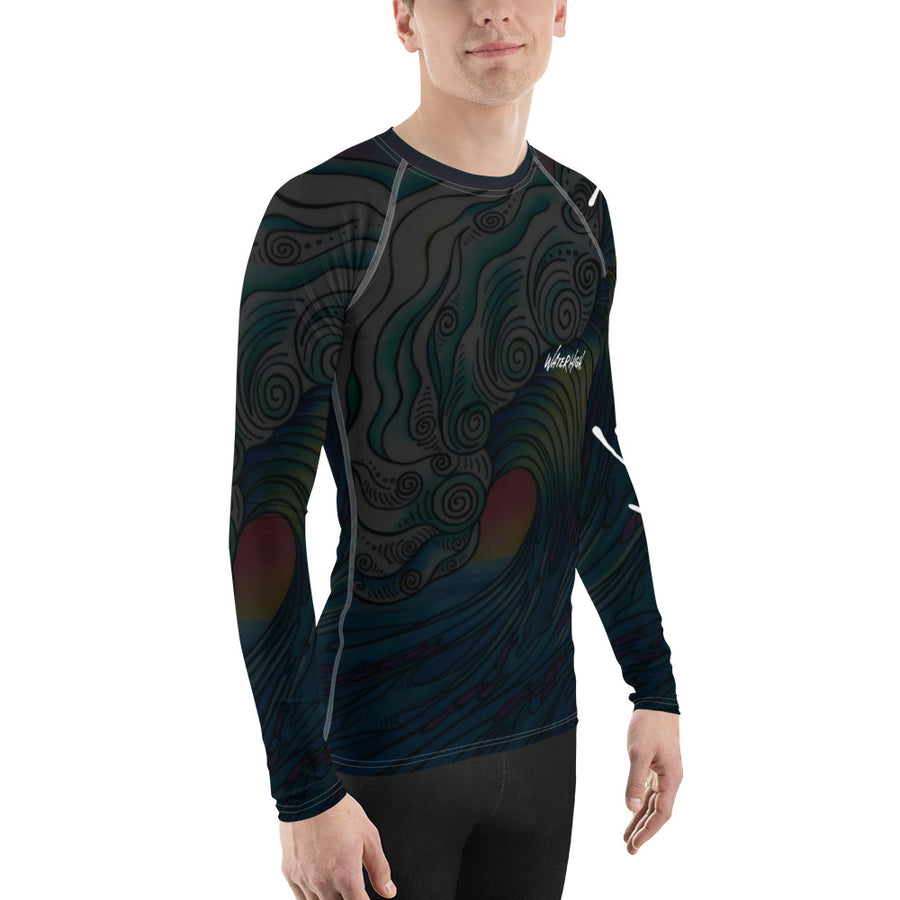 WaterHigh Dark Wave Men's Rash Guard Signature