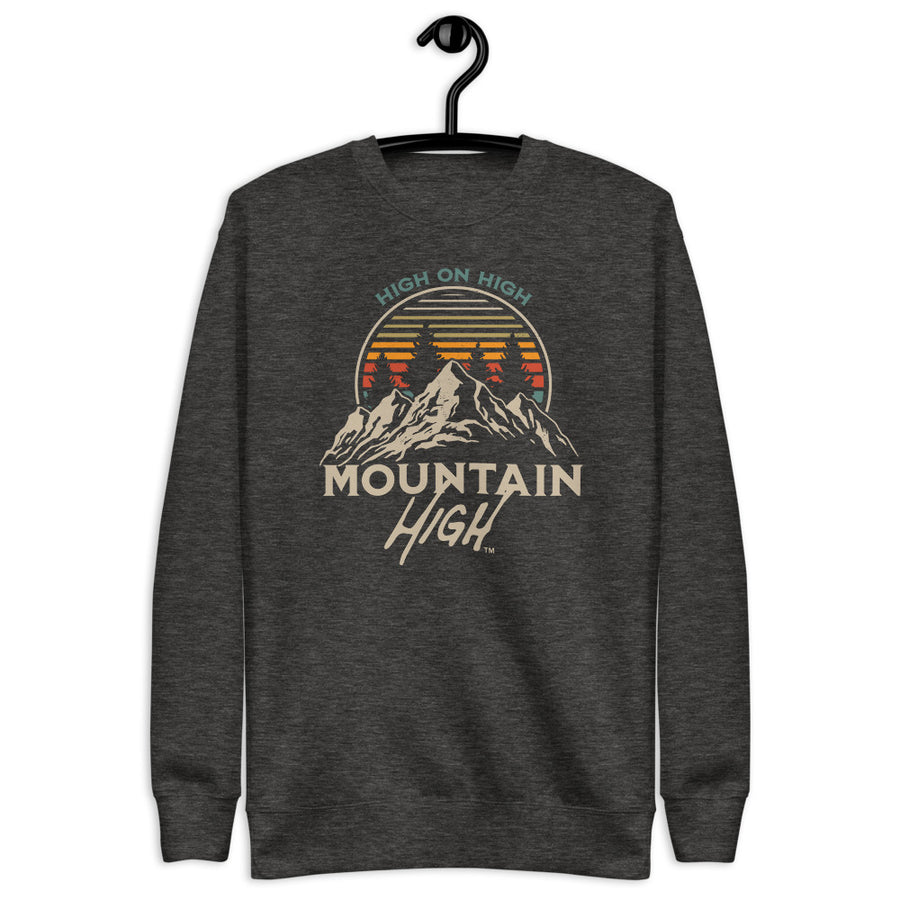 Mountain High on High Unisex Fleece Pullover