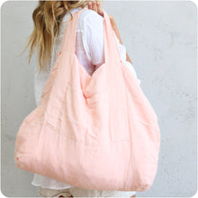Load image into Gallery viewer, Peach Linen Tote