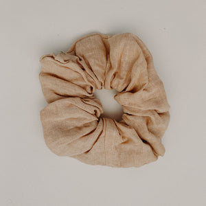 Honey Linen Scrunchie