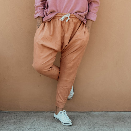 Terry Drop Crotch Pants - Marmalade