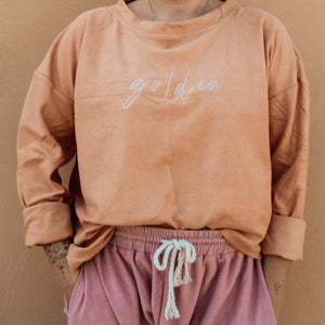 GOLDEN Signature Terry Crewneck - Marmalade