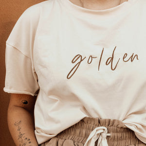 GOLDEN Signature Tee - Coconut