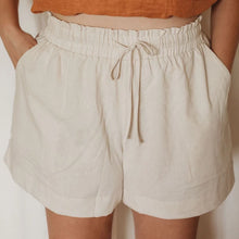 Load image into Gallery viewer, Linen Lounge Shorts - Oat