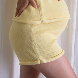 Lemon Summer Knit Shorts