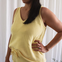 Load image into Gallery viewer, Lemon Summer Knit Tank