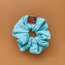 Load image into Gallery viewer, Seafoam Linen Scrunchie