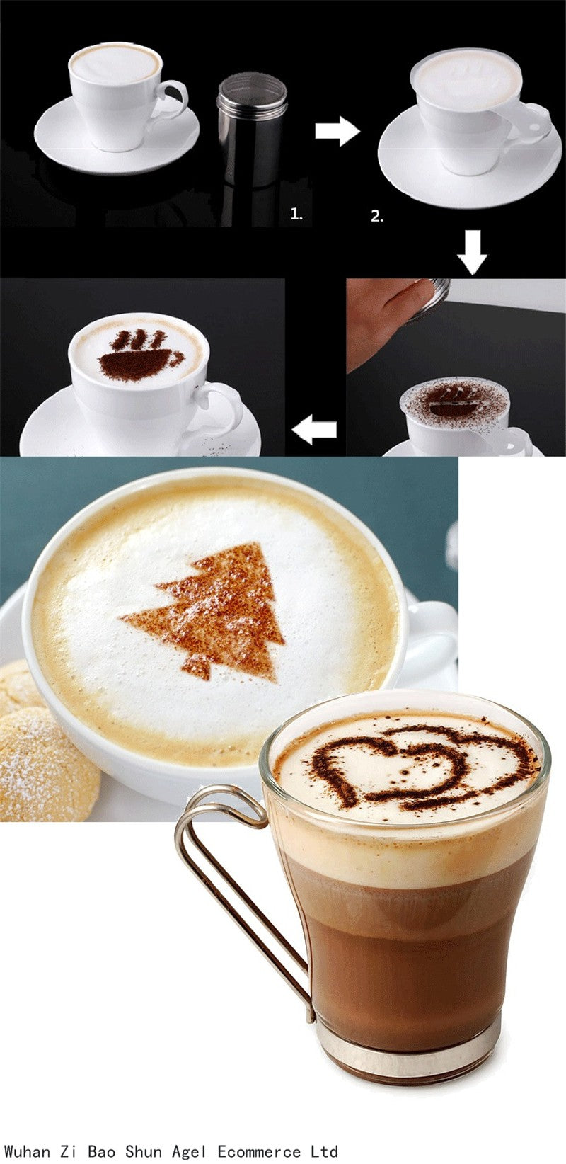 coffee stencils set