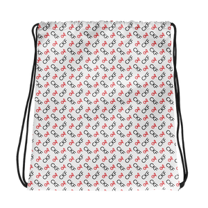 CKF Cherry Monogram Print Drawstring Bag