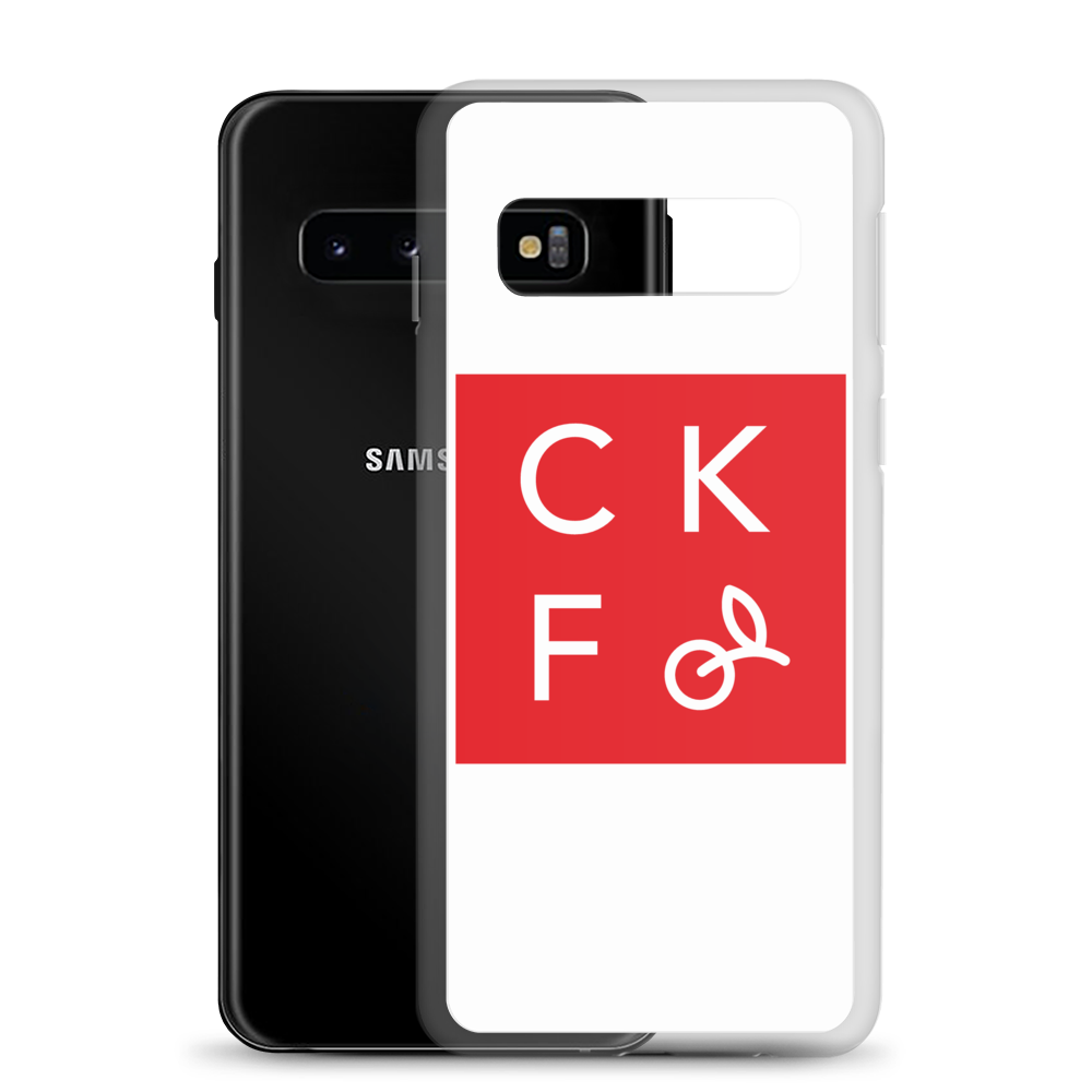CKF Box Logo Samsung Galaxy Case - White