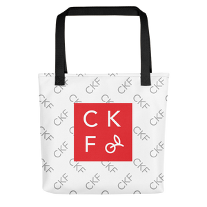 CKF Monogram Print with CKF Box Logo Tote