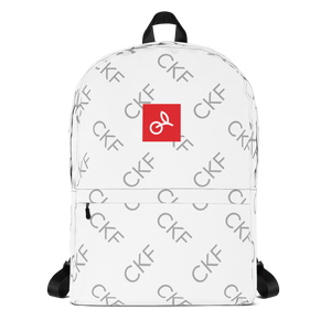 CKF Monogram Print with Cherry Box Logo Backpack