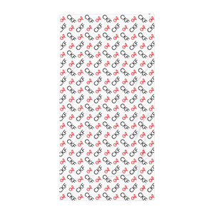 CKF Cherry Monogram Print Beach Towel