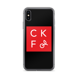 CKF Box Logo iPhone Case- Black