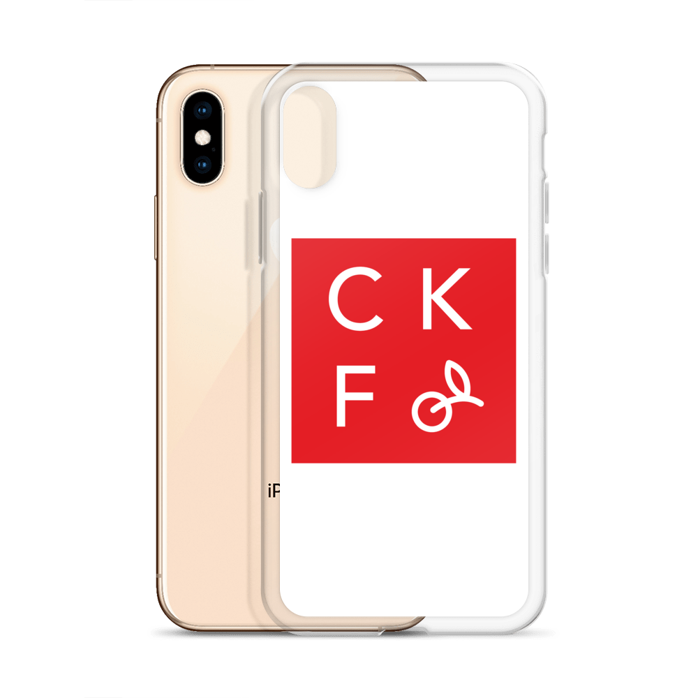 CKF Box Logo iPhone Case - White