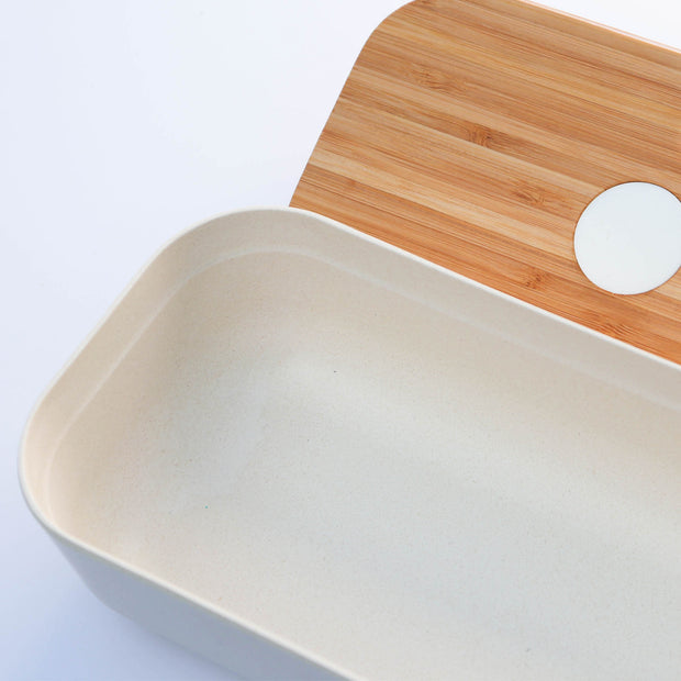 earthstor bamboo bento container close up