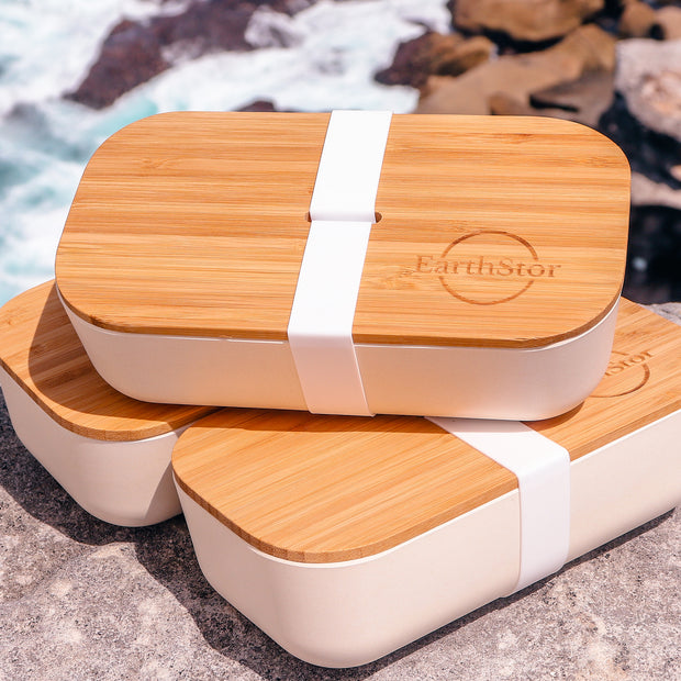 three eathstor bamboo bento at Bondi beach