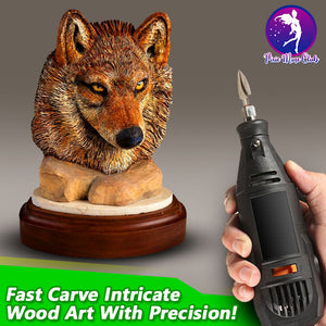FastCarve Tri-Blade Woodworking Drill Bits