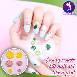 Intricate 3D Acrylic Nail Art Mold