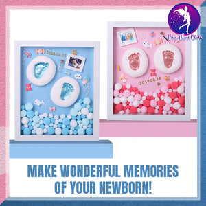 DIY Baby Hand & Footprint Frame Set