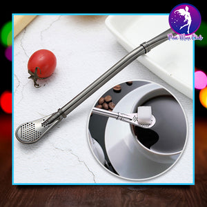 3 in 1 Bombilla Drinking Straw Spoon